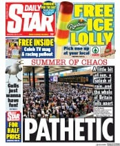 Daily Star (UK) Newspaper Front Page for 27 July 2019