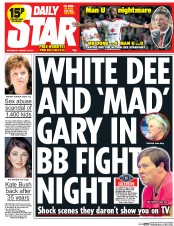 Daily Star (UK) Newspaper Front Page for 27 August 2014