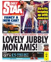 Daily Star (UK) Newspaper Front Page for 27 August 2019