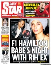 Daily Star Newspaper Front Page (UK) for 27 September 2012