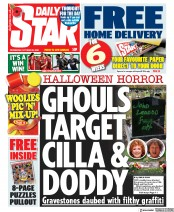 Daily Star front page for 28 October 2020