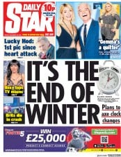 Daily Star (UK) Newspaper Front Page for 28 December 2018