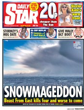 Daily Star (UK) Newspaper Front Page for 28 February 2018