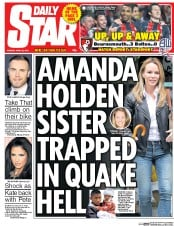 Daily Star (UK) Newspaper Front Page for 28 April 2015