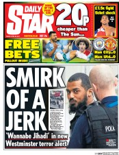 Daily Star (UK) Newspaper Front Page for 28 April 2017