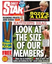 Daily Star front page for 28 April 2021
