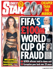 Daily Star (UK) Newspaper Front Page for 28 May 2015