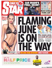 Daily Star (UK) Newspaper Front Page for 28 May 2018