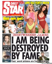 Daily Star (UK) Newspaper Front Page for 28 June 2019