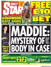 Daily Star (UK) Newspaper Front Page for 28 July 2015