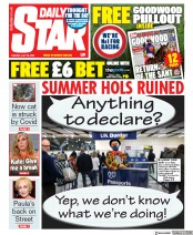 Daily Star front page for 28 July 2020