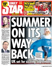 Daily Star (UK) Newspaper Front Page for 28 August 2014