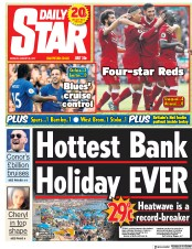 Daily Star (UK) Newspaper Front Page for 28 August 2017