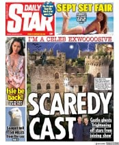 Daily Star (UK) Newspaper Front Page for 28 August 2020