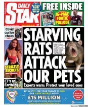 Daily Star front page for 28 September 2020