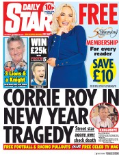 Daily Star (UK) Newspaper Front Page for 29 December 2018