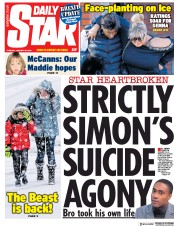 Daily Star (UK) Newspaper Front Page for 29 January 2019
