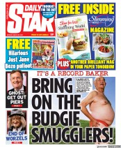 Daily Star (UK) Newspaper Front Page for 29 March 2021