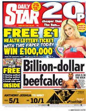Daily Star (UK) Newspaper Front Page for 29 April 2017