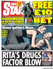 Daily Star (UK) Newspaper Front Page for 29 July 2015