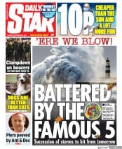 Daily Star front page for 29 September 2020