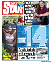 Daily Star (UK) Newspaper Front Page for 2 December 2019