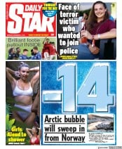 Daily Star () Newspaper Front Page for 2 December 2019