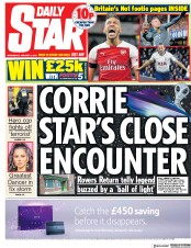 Daily Star (UK) Newspaper Front Page for 2 January 2019