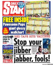 Daily Star front page for 2 January 2021