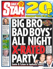 Daily Star (UK) Newspaper Front Page for 2 February 2017