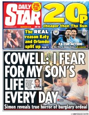 Daily Star (UK) Newspaper Front Page for 2 March 2017