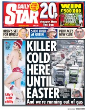 Daily Star (UK) Newspaper Front Page for 2 March 2018