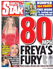 Daily Star () Newspaper Front Page for 2 March 2019