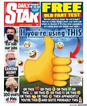 Daily Star (UK) Newspaper Front Page for 2 April 2021