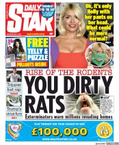 Daily Star (UK) Newspaper Front Page for 2 May 2020