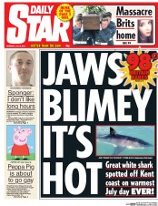 Daily Star (UK) Newspaper Front Page for 2 July 2015