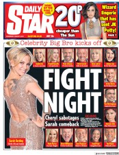 Daily Star (UK) Newspaper Front Page for 2 August 2017