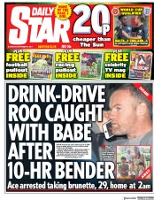 Daily Star (UK) Newspaper Front Page for 2 September 2017