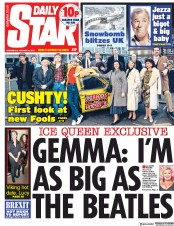 Daily Star (UK) Newspaper Front Page for 30 January 2019