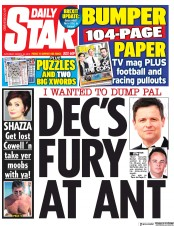 Daily Star (UK) Newspaper Front Page for 30 March 2019