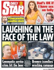 Daily Star (UK) Newspaper Front Page for 30 May 2018
