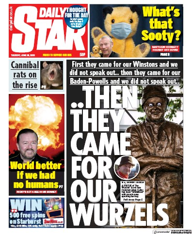 Daily Star Newspaper Front Page (UK) for 30 June 2020