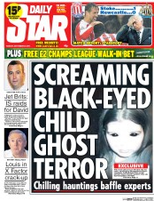 Daily Star (UK) Newspaper Front Page for 30 September 2014