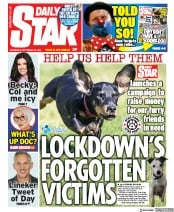 Daily Star front page for 30 September 2020