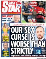 Daily Star (UK) Newspaper Front Page for 31 December 2018