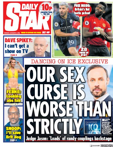 Daily Star Newspaper Front Page (UK) for 31 December 2018