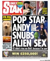Daily Star () Newspaper Front Page for 31 December 2019