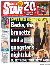 Daily Star (UK) Newspaper Front Page for 31 January 2018