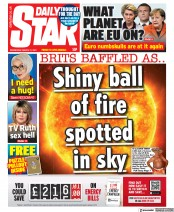 Daily Star (UK) Newspaper Front Page for 31 March 2021