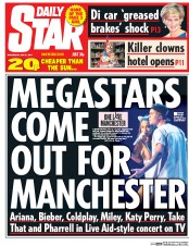 Daily Star (UK) Newspaper Front Page for 31 May 2017